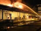 В Киеве произошел масштабный пожар на складах