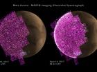Солнечная вспышка вызвал мощное сияние над Марсом