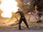 Оккупанты продолжают использовать тяжелое вооружение, ранен один защитник