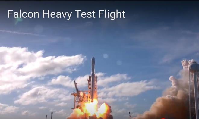 Falcon Heavy успешно осуществила первый запуск (видео) - фото
