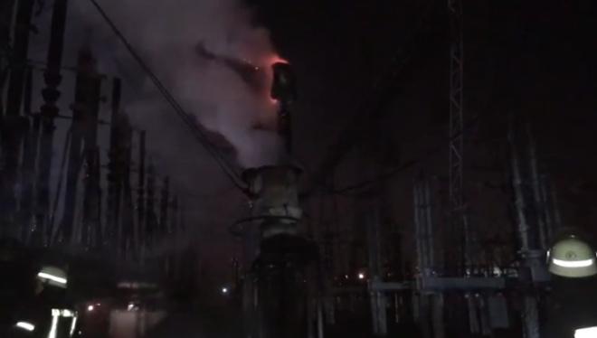 На Приднепровской ТЭС произошел пожар - фото