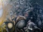 Сложные облачные узоры северного полушария Юпитера