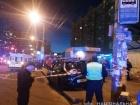 Такси влетело в остановку возле метро Минская, есть пострадавшие