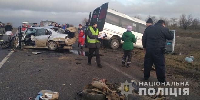 В Одесской области в ДТП с участием маршрутки погибл один пассажир, много пострадавших - фото
