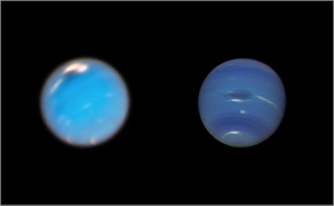 Хаббл запечатлел рождение гигантской бури на Нептуне - фото