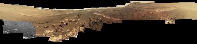 Великолепная панорама поверхности Марса из последних фотографий Opportunity - фото