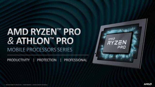 """AMD представила новые """"гибриды"""" Ryzen PRO и Athlon PRO для ноутбуков - фото"""
