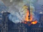 Собор Парижской Богоматери пострадал от пожара