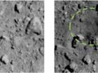 Японцы показали кратер на астероиде, созданный во время бомбардирования