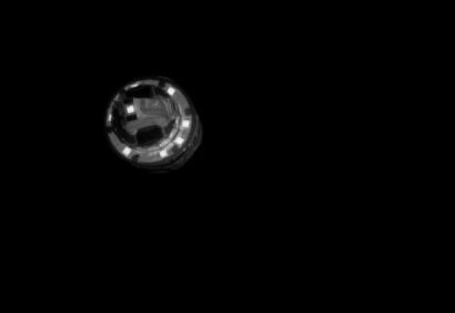 Японский зонд сбросил бомбу на астероид - фото