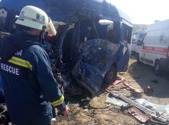 Авария с переполненной маршруткой на Одесчине: много погибших - фото