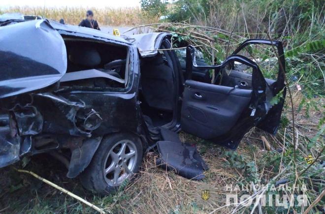 На Хмельниччине пьяный водитель врезался в электроопору: сам выжил, погибли 4 пассажира - фото