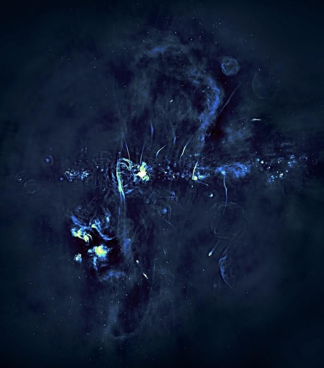 У центра нашей галактики обнаружены удивительные гигантские структуры - фото
