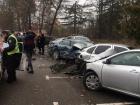 Под Киевом пьяная водитель смяла 5 автомобилей на стоянке