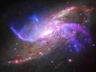 Галактическая пиротехника в 23 миллионах световых лет
