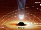 Черная дыра отгибает свет обратно к себе
