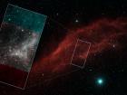 Туманность Калифорния на финальном мозаичном изображении телескопа «Спитцер»