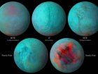Инфракрасный взгляд на Энцелад намекает на свежий лед в северном полушарии